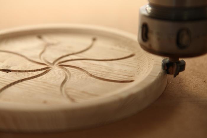 Produktionsbeispiel Holz CNC-Bearbeitung